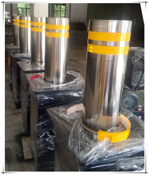 Remote control automatic rising bollards stainless steel bollards hydraulic rising bollard