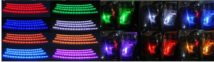 4 Stks Multi Kleur Auto Led Auto Sfeer Interieur Verlichting ...