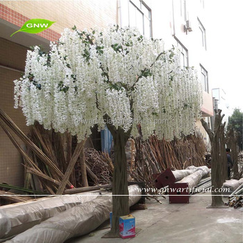 Gnw bls080 durable and burly fake white wisteria trees wedding gnw bls080 durable and burly fake white wisteria trees wedding decoration supplies in guangzhou junglespirit