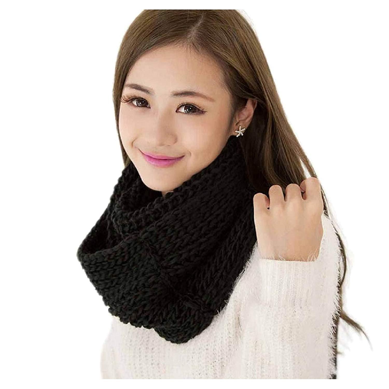 TOOGOO(R) Scarf Winter Knitted Wool Scarf (Gray)