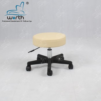 adjustable height lifting round foot stool manicurist stool with