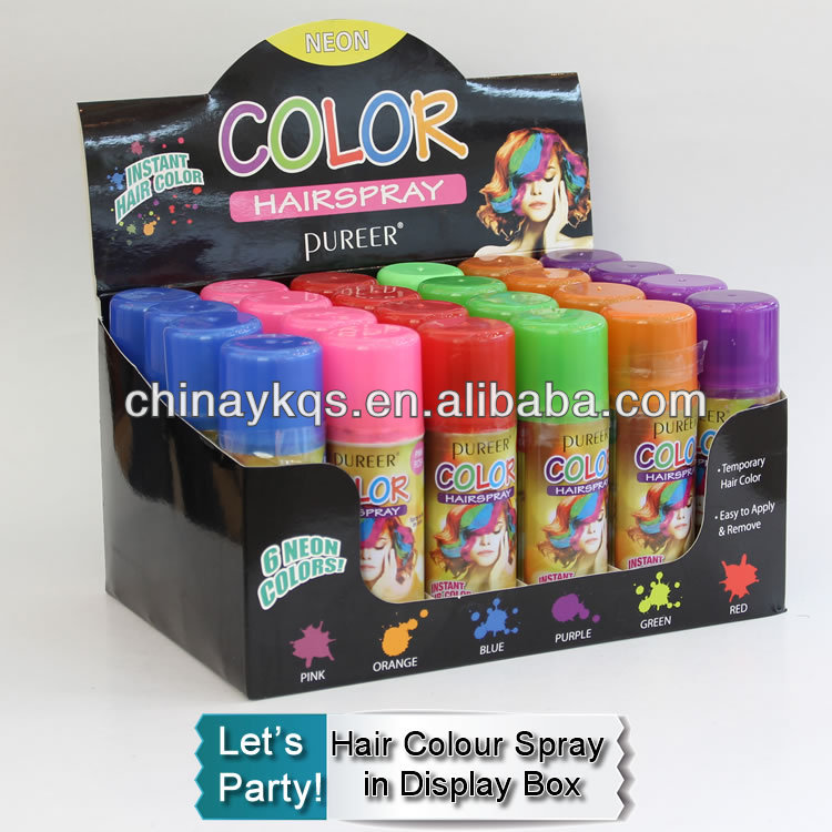 Temporary Washable Hair Color Spray suitable for party