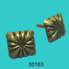 Square sofa nails, flower tacks for funiture, antique brass furniture studs tacks 30163