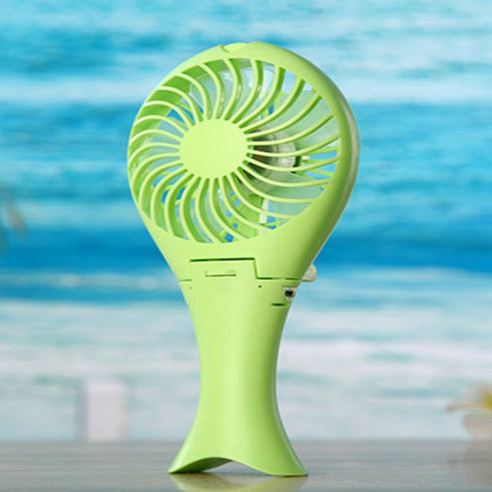 Dream's Story New Mermaid Mini Rechargeable Fan Portable Handheld Multipurpose Mute Electric Fans Multipurpose Turbo Force Room Air Circulator Collapsible Portable Fan (green)