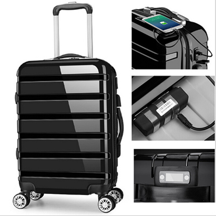 ABS PC USB smart luggage GPS function lightweight luggage