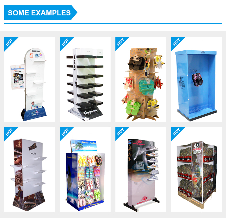collapsible cardboard cap socks shoes display rack