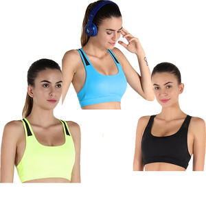 branded top good quality yoga sports women sexy nude bra sports wear for fitness