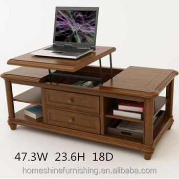 A Liftable Laptop Board Wooden Buffet Coffee Table Buy - Liftable table