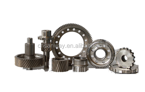 High precision ring pinion gear and gear shaft for electric car