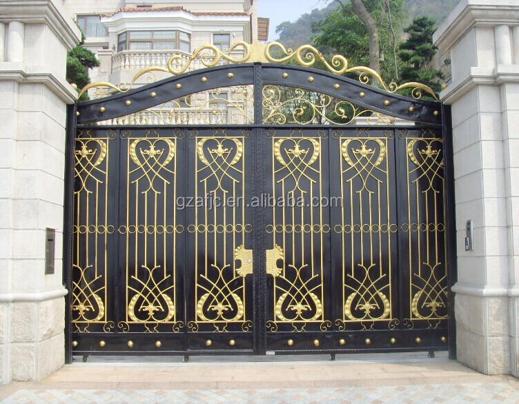 Porte en acier porte en m tal portail pour la maison for Single gate designs for homes