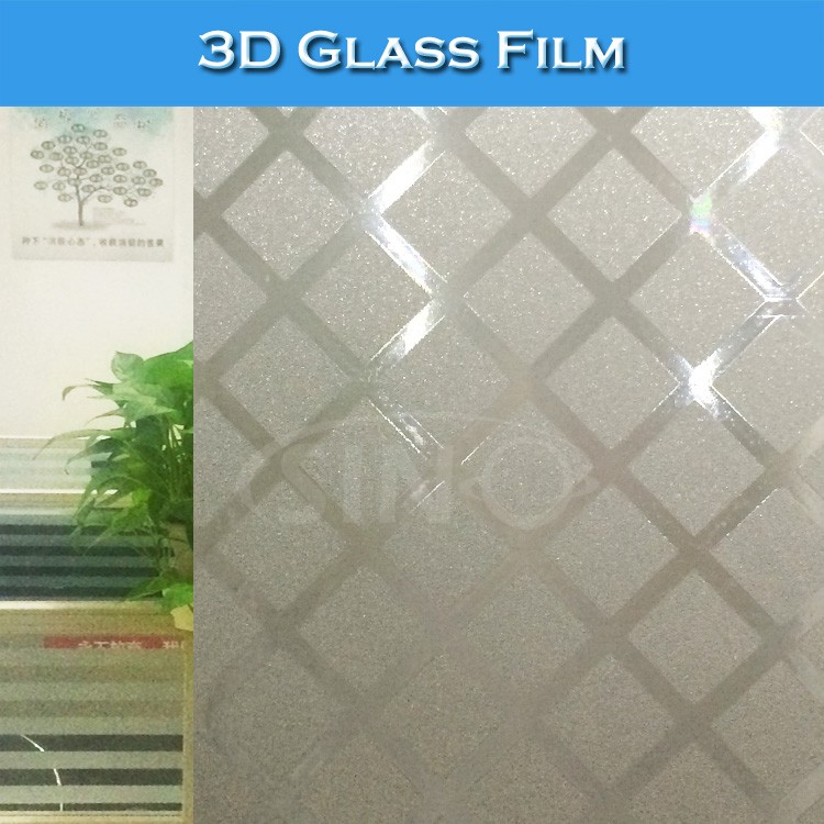 D001-D013 Newest 3D Self Adhesive Forested PVC Window Film