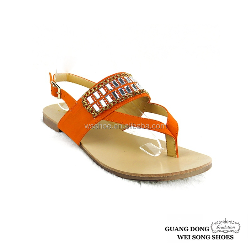women summer slingback thong adjustable size ladies flat leather sandals