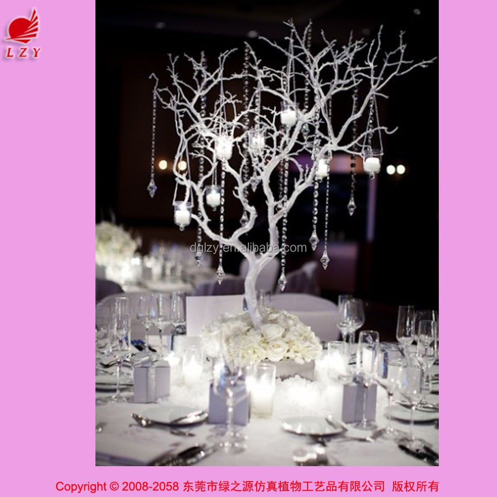 haute qualit artificielle pu d coration blanc branche d 39 arbre de mariage center de table. Black Bedroom Furniture Sets. Home Design Ideas
