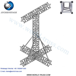 Pressure Resistance TV Truss Stands LED/Active Line Array Truss For Hanging Speakers Aluminum Booth Lighting Truss Support
