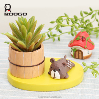 Roogo 2017 japanese style new products mini cup animal flower pot succulent planter vase