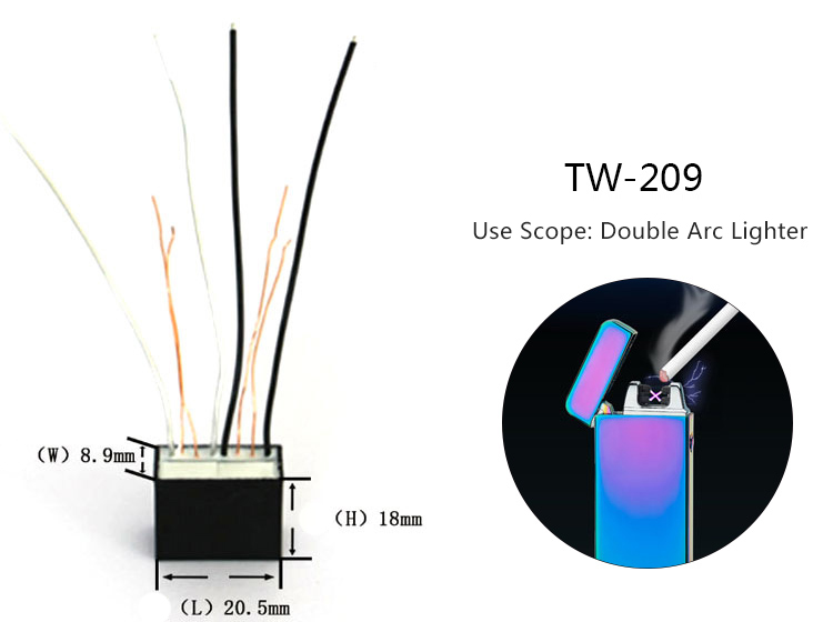 Tw209 High Voltage Generator Ignition Coil Electric Lighter Accessories -  Buy High Voltage Transformer,Electronic Lighter Parts,Smoking Accessories