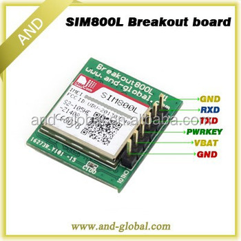 SIM800L GPRS Module with PCB Antenna,Automatic Micro SIM Card,SIM800L breakout board