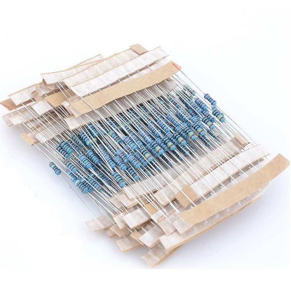 Solu1/4w 100ohm to 2k Resistors Bag 27 Common Resistors Each One 10pcs Total 270pcs//270pcs 100ohm to 2k 1/4w Resistance 5% 27 Kinds Each 10 Colored Ring Resistance