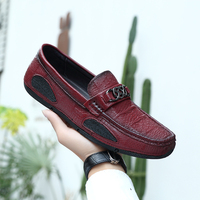 wholesale latest handmade leather loafer shoes men moccasin factory