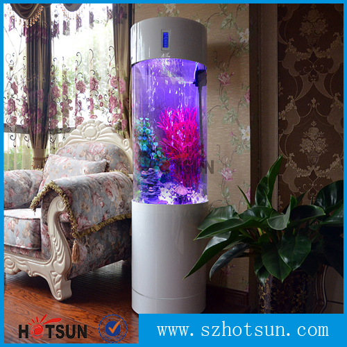 White indoor acrylic fish aquarium fish tank cylinder for How to build an acrylic fish tank