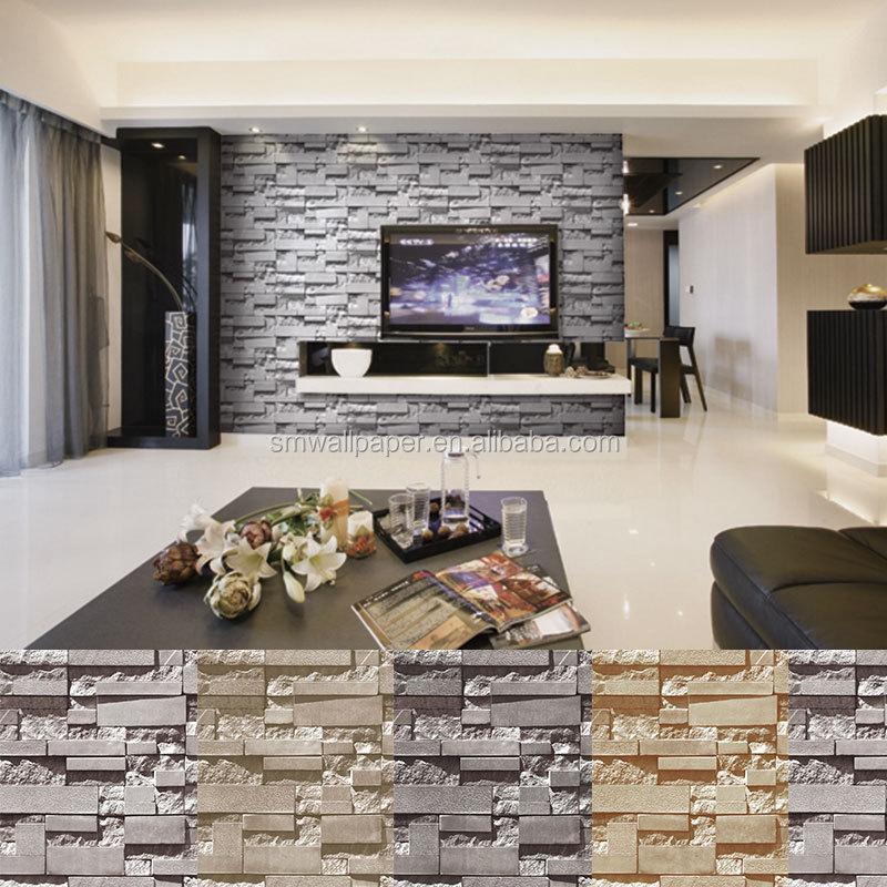 Wallpaper Brick 3d Pvc Stone Design Wall Mural