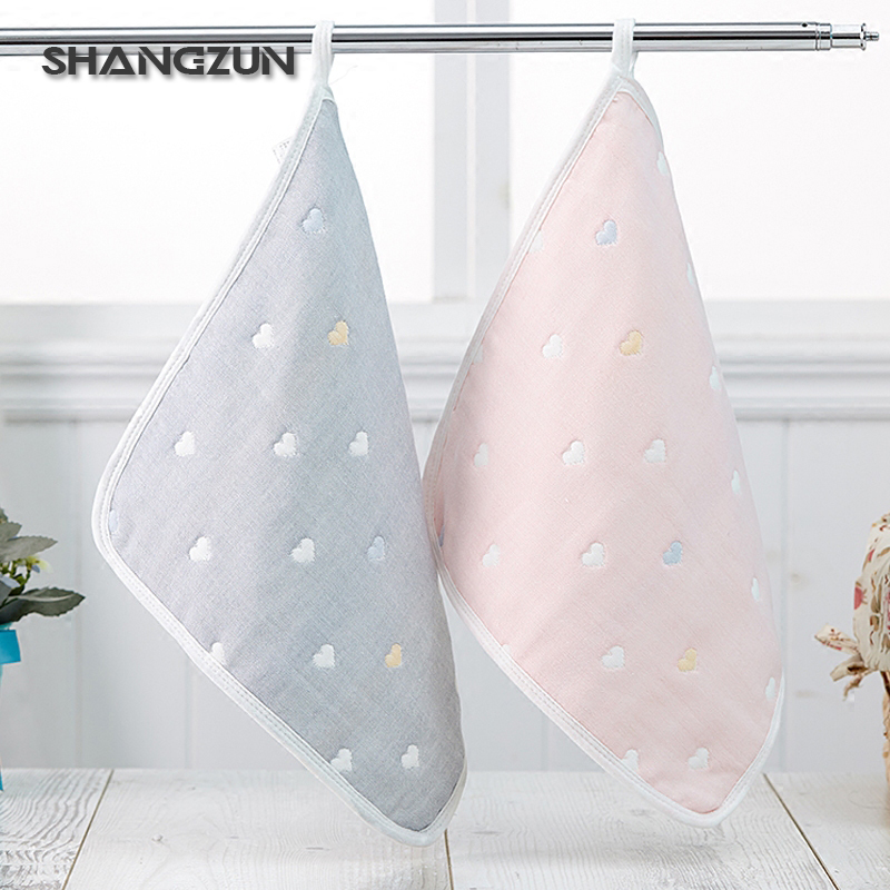 2017 high quality design square organic cotton baby towel