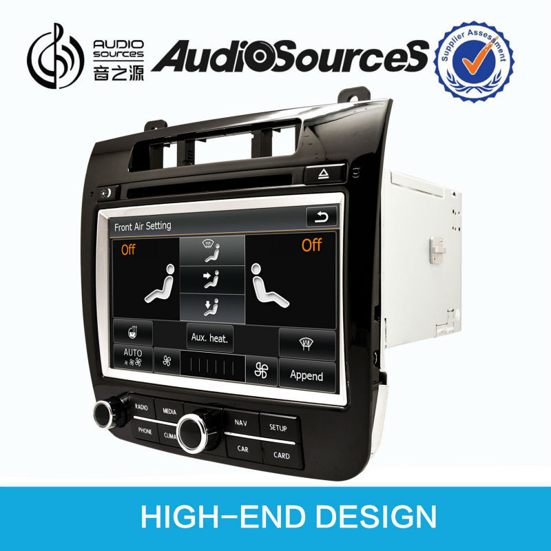 audiosources double din car dvd gps for VW Touareg (2011-2013) with reversing camera,can bus,OPS,IPAS,air conditional,SWC,1080P
