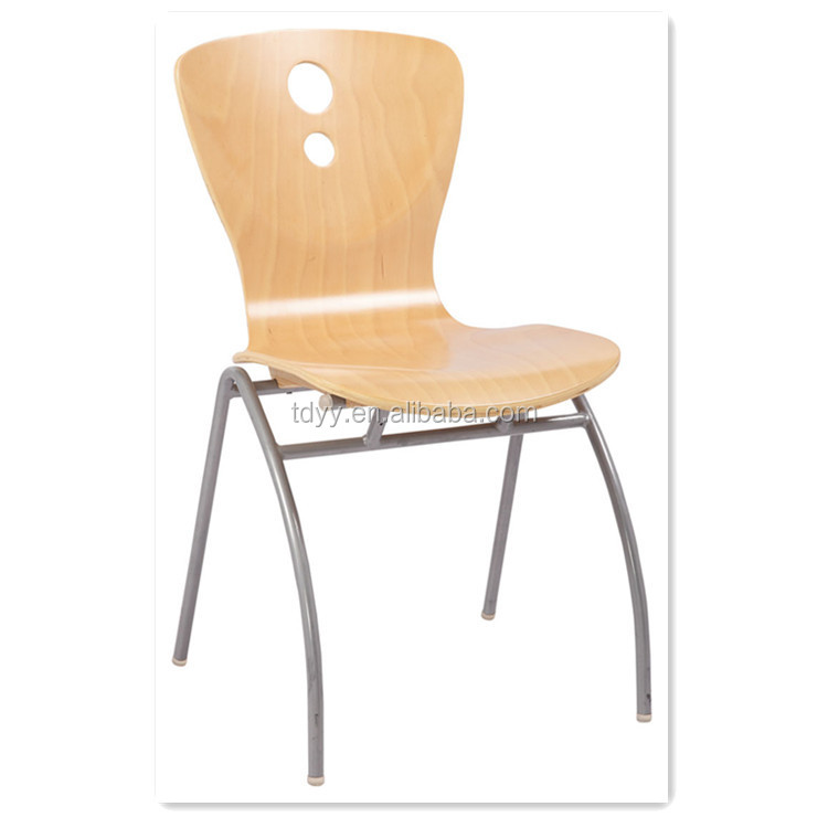bent wood stackable high quality cheapest plywood fold up chair