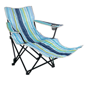 Best Selling metropolitan armchair metal travel foldable round chair metal stripe canvas beach chair