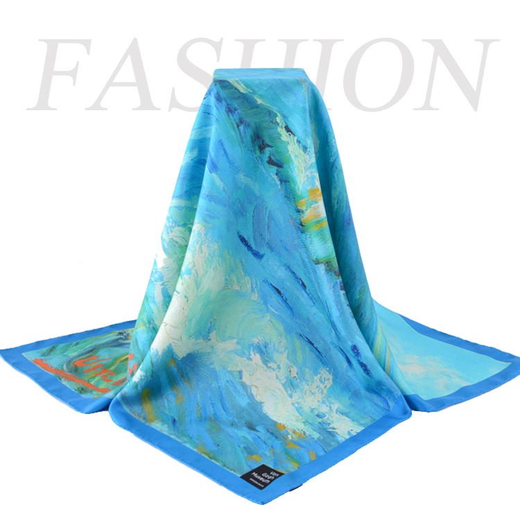 Custom Made- 90X90cm 12mm Silk Twill Silk Square Scarf For Your Artwork