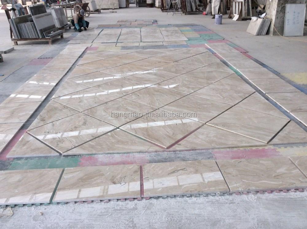Popular Color Cappuccino Marble Flooring Cost Per Sq Ft