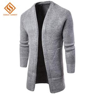 8237b7b585f7 guangzhou shangsi fashion factory custom men flat pattern plain color knit  shrug cardigan sweater