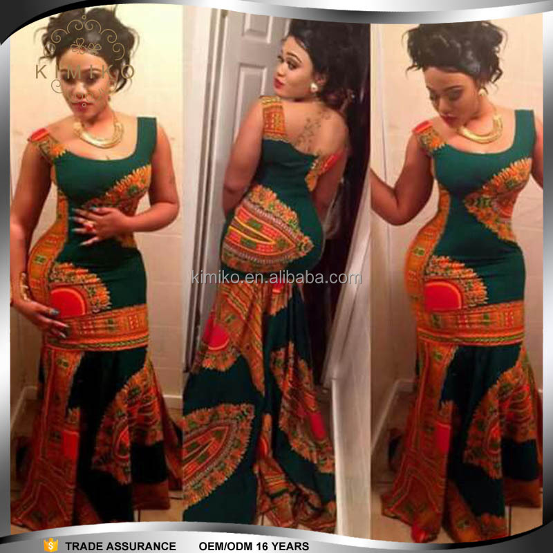 Wholesale Price Nigerian African Print Evening Dress Designs - Buy ...