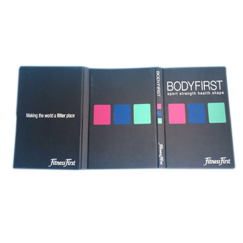 a5 hard cover tri folder vinyl booklet with plastic pockets buy