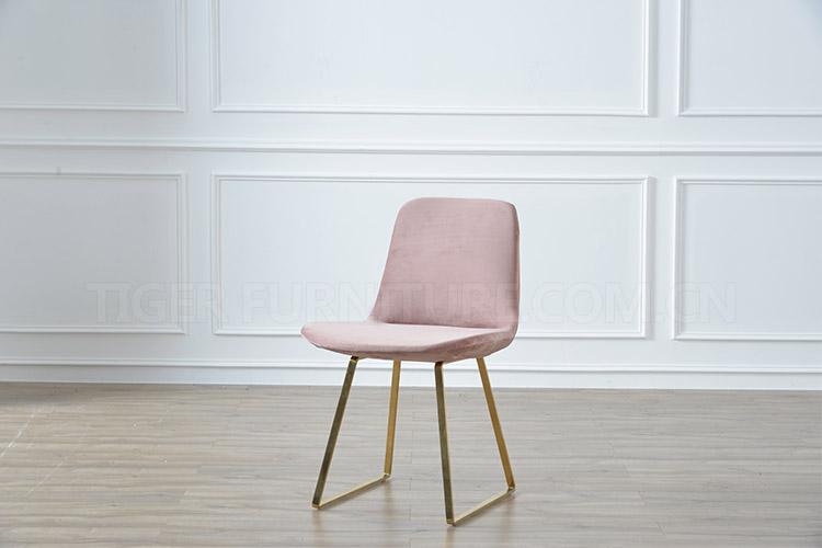Stoel Metalen Frame : Groothandel restaurant meubelen accent roze dining fluwelen stoel