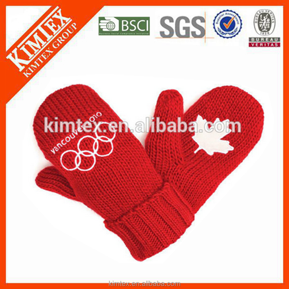 Wholesale custom acrylic mittens with custom logo