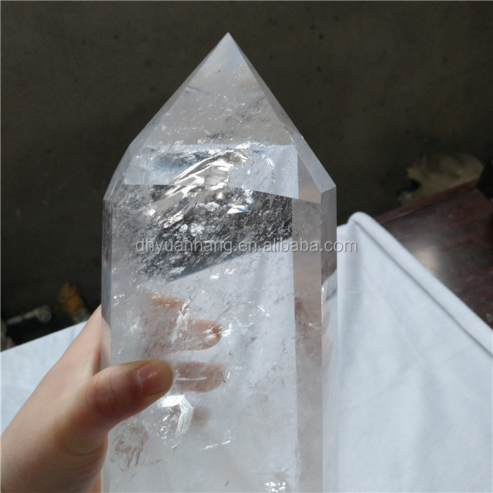 Natural rock clear quartz crystal healing wands top clean crystal points