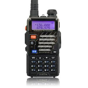 BaoFeng *UV-5R Plus* UV 5R+ Dual-Band 136-174/400-480 MHz FM Ham Two-way Radio, More Stubborn Case, More Rich and Enhanced Features (2013 the Latest Version) + Original Handheld BAOFENG UV-5R Speaker-mic for Dual Band Radio + USB Programming Cable for Baofeng UV-5R/ Wouxun UVd1P/ UV6D Two Way Radio