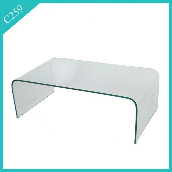 מתקדם זכוכית מחוסמת באיכות גבוהה אשלי ריהוט שולחן קפה-שולחנות זכוכית DS-91