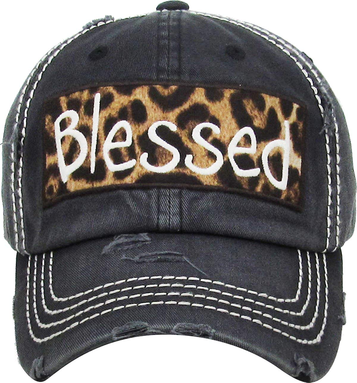 d4eba990438 Get Quotations · Funky Junque Womens Baseball Cap Distressed Vintage  Unconstructed Embroidered Dad Hat