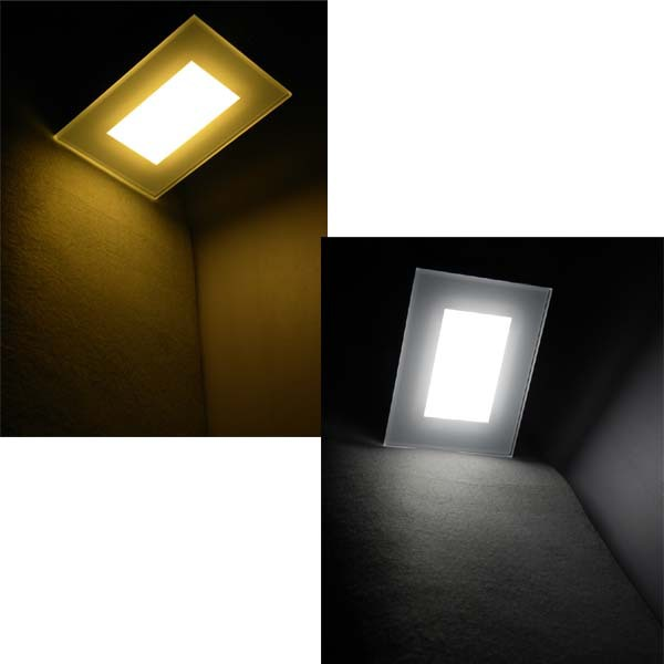 4w Wall Mount Led Light Square Led Wall Light Corridor Recessed ...