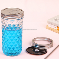 High quality Quilted Crystal Jelly 4oz 8 oz wide mouth mason jar