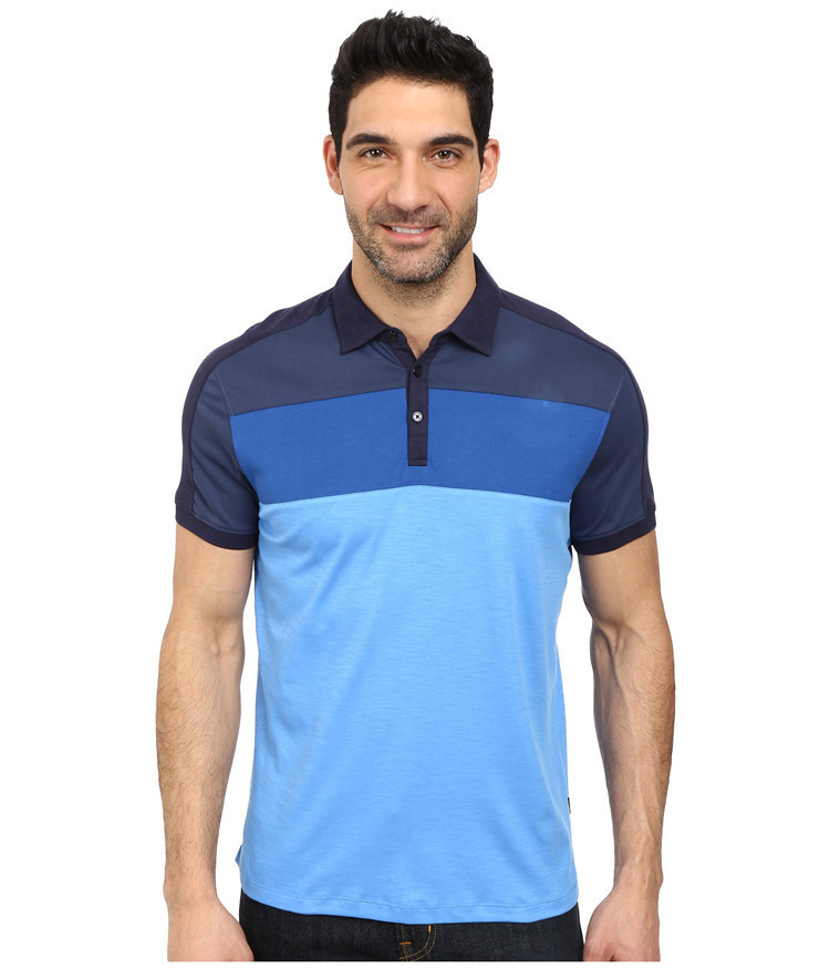 2015 Latest Custom Mens Tri Color Mens Polo Shirts 100