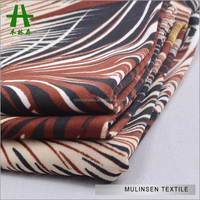 Mulinsen Textile Poly FDY Spandex Peacock Feather Print Cheap African Fabrics