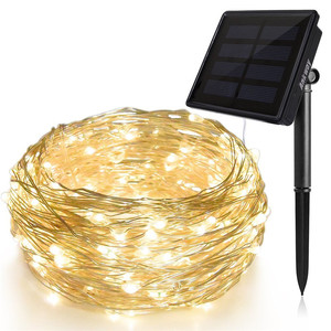 Best outdoor 10M Solar Panel Pack 100 Led Count Copper Wire Mirco Garland String Lights