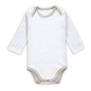 80184c545 Custom Print Organic Cotton Baby Jumpsuit Newborn Baby Wear White ...
