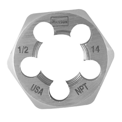 IRWIN HANSON 8467 Hex Die,High Carbon Steel,RH,1-14