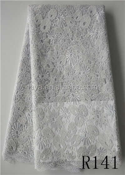 silver french net lace sequin net embroidery fabric