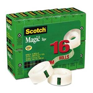 """Scotch - Magic Tape Value Pack 3/4"""" X 1000"""" 1"""" Core Clear 16/Pack """"Product Category: Tape Adhesives & Fasteners/Tape"""""""