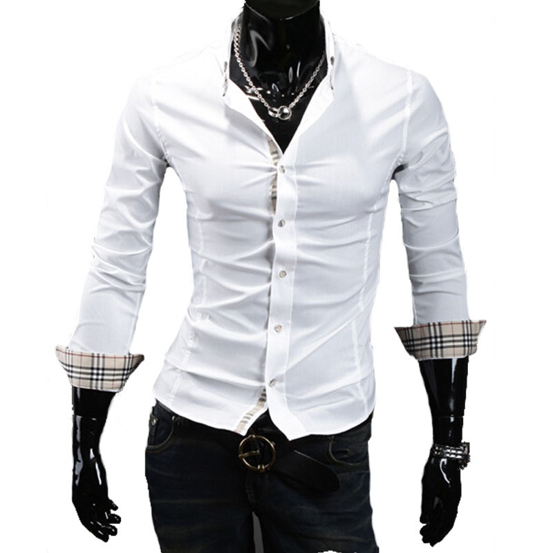 Long sleeve men's casual-shirt 2015 new hot selling cotton men shirts,top quality premium shirts for male 3colors,4sizes